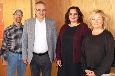 Holger Lange OV-Sprecher Ottobrunner Grüne, Uwe Kekeritz MdB, Beate Walter-Rosenheimer MdB, Sybille Martinschledde